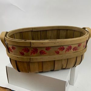 Bentwood Oval Basket with Leaves
